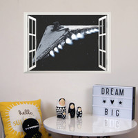 art of star wars - Star Wars the d window bedroom of children room background wall waterproof wallpaper can be removed