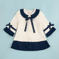 Wholesale New Baby Girls Jacket Coat with Bow Spring Autumn Designer Kids Trench dress Coat Infant Girls Windbreaker Children Clothing