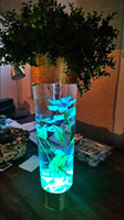 aquarium events - Wedding Party Event Decoration Supplies Waterproof Wedding Party Vase Aquarium Tank Base Floral Decorative Light Pieces FreeShipping