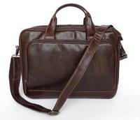 Wholesale Classic Genuine Leather Men s Shoulder Bag Messenger Bag Business Briefcase Hand bag Laptop Bag