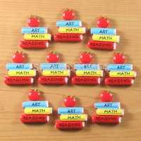 africa books - 50pcs Cute Books Art Math Reading with Apple Back to School Students Cabochons Resin Flatbacks Scrapbooking Hair Bow Crafts