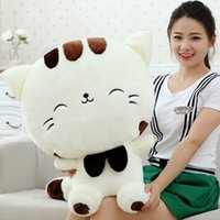 big cat beds - 2016 Fashion Baby Plush Dolls PC cartoon big cat face Kids Plush Toy for Children Room Bed Decoration Toys Christmas Birthday Gifts