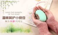 Wholesale Lucky Bean USB Rechargeable Hand Warmer Lovely Warm Hands USB Charge With mAh Power Bank For Phones Charging