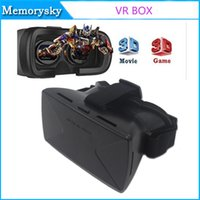 Wholesale new D VR Glasses Head mounted Virtual Reality Headset with Adjustable Head Strap for D Movies for inch smart phone
