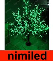 Wholesale nimi664 LED Cherry Blossom Tree Light LED Bulbs ft M Height Christmas Wedding Rainproof Outdoor Patio Lawn Garden Lamp