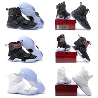 Wholesale With Shoes Box Lebron Soldiers X Mens Basketball Shoes With Carbon Fiber Cheap Lebron Basketball Shoe Sports Training Sneakers