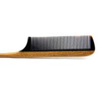 Wholesale Natural green sandalwood buffalo horn shape tail comb barber beauty salon hair styling comb anti static