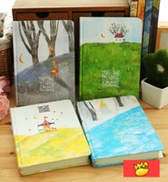 Wholesale quot Forest Life quot pc Colorful Pages Diary Blank Papers Hard Cover Cute Planner Pocket Journal Notebook Agenda Notepad Study School Gift