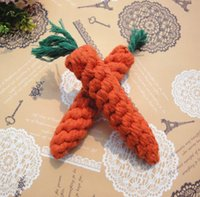 Wholesale 200 Braided Rope Knot Toy Durable Carrot Dog Toys Cat Pet Cotton Imitate