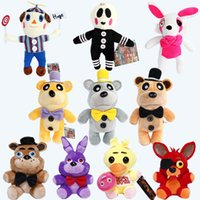 Wholesale 7pcs Plush pendant cm FNAF Five Nights At Freddy s pendant plush toys doll Nightmare Fredbear Golden Freddy keychain