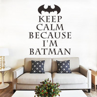 batman technology - Popular cartoon movie Batman Super hero new vinyl technology PVC home decor wall stickers boys Room decor birthday gift