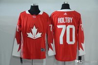 Cheap 2016 Mens Team Canada 70 Holtby Red Olympics World Cup Hockey Ice NHL Jerseys Free Drop Shipping gally