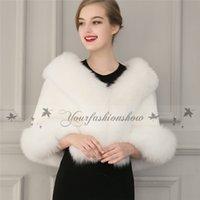 Wholesale New winter outerwear women clothing Faux Fur Coat bridal gown bridesmaid fur shawl cape coat Z430