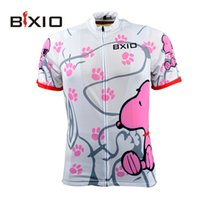Wholesale BXIO Brand Cycling Jersey Women Short Sleeve Sport Jersey Summer Cool Snoopy Bike Clothing Pro Team Equipe De France BX W021 J
