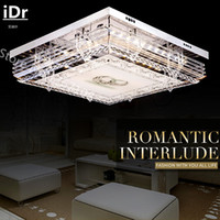 Wholesale Living room living room bedroom led ceiling lights Promise dimming flat crystal lamp low pressure