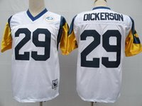 american dickerson - classic american football jersey DICKERSON men jerseys adult shirts throwback shirt vintage tops retro top blue white