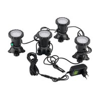 Wholesale 2016 high quality set Underwater Garden Fountain Fish Tank Pool Pond LED Spot Light New for EU plug
