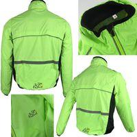 Wholesale 2016 new hot Tour de France cycling polyster wind rain coat to waterproof windproof breathable wear sleeve jacket