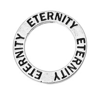 antique eternity rings - Closed Soldered Jump Rings Washer Donut Pendants Antique Silver Message quot ETERNITY quot Carved mm quot Dia new