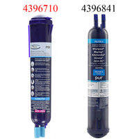 activated carbon cartridge - 1 Pack OEM Replacement Cartridge Push Button Side by Side Refrigerator Water Filter Compatible with Whirlpool KitchenAid PUR