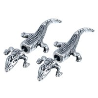 alligator earrings - 10Pair New Animal studs FAKE GAUGE EARRINGS Alligator Stud Crocodile Shaped Plug Earrings Fantastic Womem Earring
