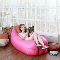 camping chairs - Fast Inflatable Lamzac Hangout Lounger Air Sleep Camping Sofa KAISR Beach Nylon Fabric Sleeping Bag Bed Lazy Chair ourdoor