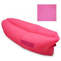 Wholesale 9 Colors Fast Inflatable Sleep Bag Seconds Quick Open Lazy Sleeping Bed Folding Sofa Beach Sleep Bed Outdoor Camping Air Sleep Sofa