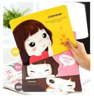 Wholesale Computer peripherals cute girl anti skid mouse pad and insulation mat