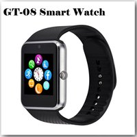 Wholesale New Arrival superior GT08 Bluetooth Smartwatch Smart Watch for iPhone IOS Samsung Galaxy Android Smartphone Pedometer Sleep Monitoring NFC