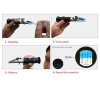 Wholesale Handheld Refractometer for Aquarium Fish Tank Salinity Testing Salt Meter
