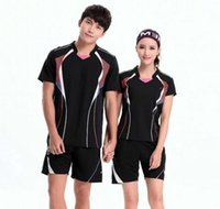 Wholesale New Genuine badminton Jersey Moisture absorption Quick drying Ventilation Sport shirt Jersey Lovers table tennis Sets