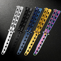 Wholesale New Cool Sports High Quality Practice Training BALISONG Butterfly Dull Knifes Style Metal Trainer Tool BK065