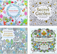 Wholesale New style Secret Garden An Inky Treasure Hunt and Coloring Book Children Adult Relieve Stress Kill Time Graffiti Painting Drawing Book