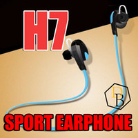 best earphones - H7 For iPhone samsung s7 edge Wireless Bluetooth V4 Sport earphone And Noise Reduction Stereo Headset headphone Best CSR high quality