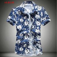 Wholesale Fashion Mens Short Sleeve Hawaiian Shirt Plus Size M XL Summer Casual Floral Shirts For Men XK107