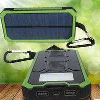 ПОЛНЫЙ 10000mAh Портативный солнечный резервного питания банка Внешняя панель для кемпинга Зарядное устройство