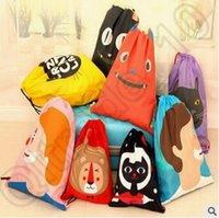 Wholesale Cartoon Travel Storage Bags Outdoor Waterproof Beach Swimming Shoes Underwear Bag Organizer Drawstring Beach Backpacks CCA4592