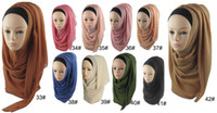 bead embroidery supplies - China professional factory supply Latest New Design Plain Color Muslim Hijab Hot selling Chiffon Instant Shawl