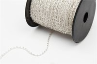 beaded wire jewelry - 10 Yards Various Multicolored Round Flat Back Acrylic Beaded String Trim Chain Sew Wedding decoration Cord for Jewelry Making