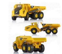 articulated dump - Alloy Diecast dump Truck Model Miniature Engineering Truck Articulated Loading and unloading vehicle Collection gift