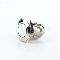 Wholesale mm flat metal self locking button switch waterproof stainless steel normally open power switch