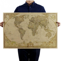 antique maps - Vintage Retro World Map Antique Paper Poster cm Wall Chart Home Decoration