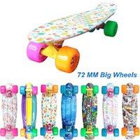 big cruiser - mm New big wheels quot Printed Mini Cruiser Skateboard Retro Fish Skate Board