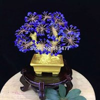bamboo tree gift - Natural Lapis lazuli crystal lucky tree home decoration tv wine cooler decoration married opening gifts