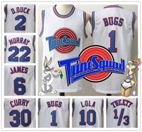 active logos - With Logo name Stitched Movie Space Jam Tune Squad White Jersey Men Michael Curry James Bugs Shirt Sport Promotion Cheap