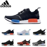 Cheap Adidas Originals NMD R1 Primeknit PK 2016 Sports Authentic Shoes Mens Women's Athletic Running Shoes Black Sneaker Running Shoes With Box