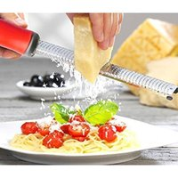 Wholesale Premium Cheese Graters Spice Chocolate Grater Lemon Zester Nutmeg Citrus Bonus Brush Sharp Stainless Steel Kitchen Gadgets
