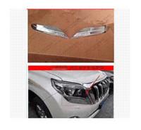 Wholesale Chrome front head light lamp eyelid cover trim For Toyota Prado Land Cruiser FJ150