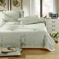 bamboo mattress cover - Bamboo Orchid New Linen Flat Bed Sheet Summer Sleeping Mat Folding Bed mat for Summer Home Textile Adult Gift Mattress Cover