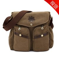 Wholesale FJ45 high road fashion leisure bags single shoulder bag men and women of the single shoulder bag washed canvas bag